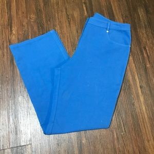 Women's cobalt blue St. John straight leg pants 12